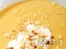 Рецепта Бадемова крем супа с червена леща, картофи и течна готварска сметана